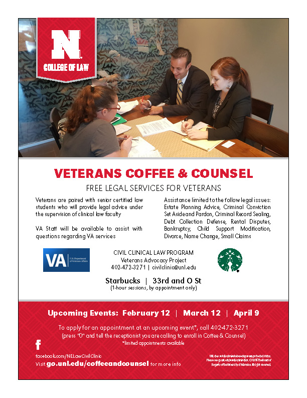 Veterans Coffee and Counsel Flyer