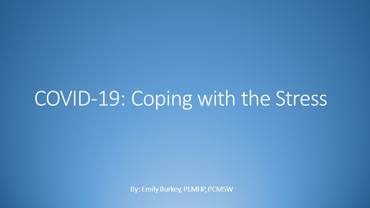 COVID-19: Coping with Stress powerpoint image