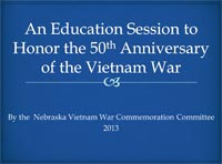 An Education Session to Honor the 50th Anniversary of the Vietnam War