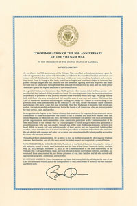 Presidential Vietnam Proclamation