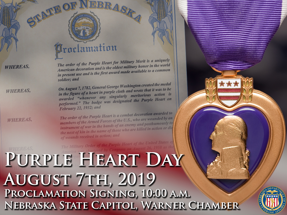 Purple Heart Day Flyer