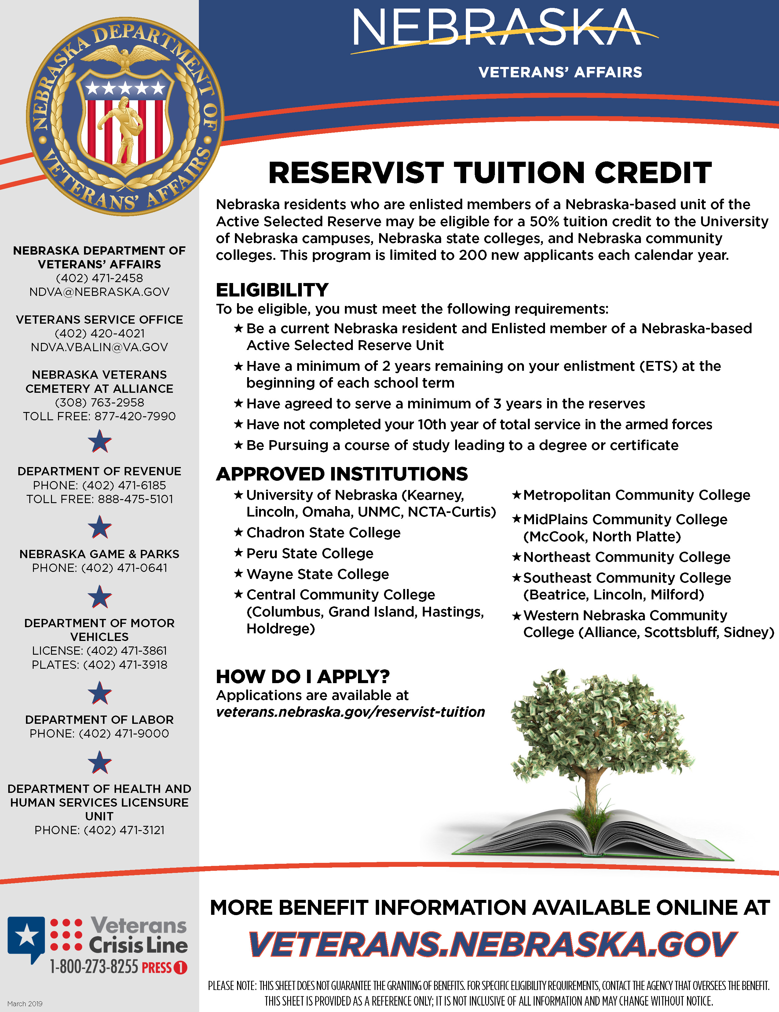 Reservist Tuition Credit Information Sheet