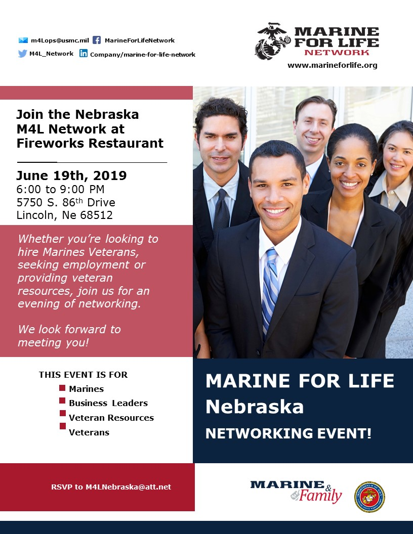 M4L Networking event flyer