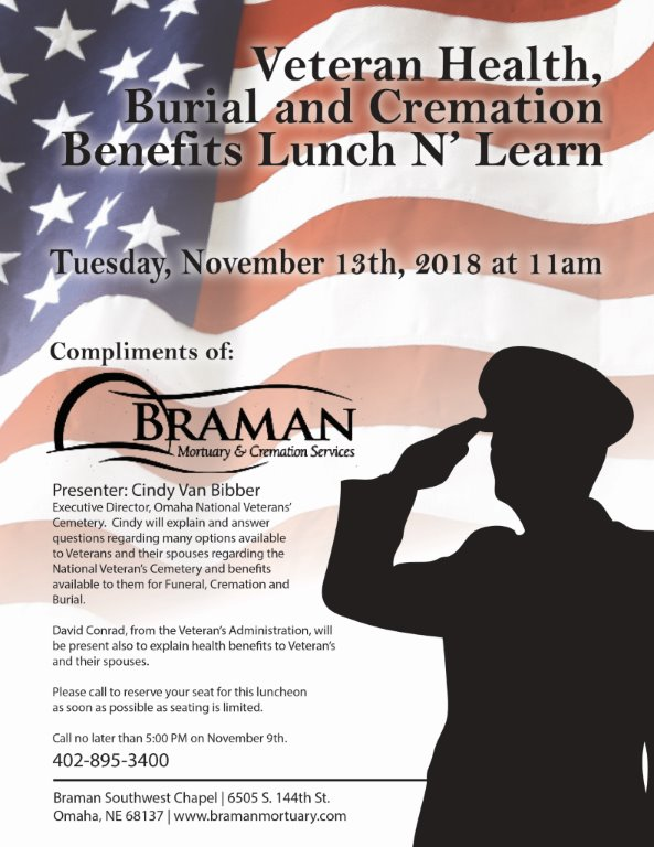 Veterans Lunch N Learn Flyer