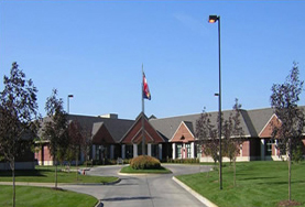 Picture of the front of the Norfolk Veterans' Home building