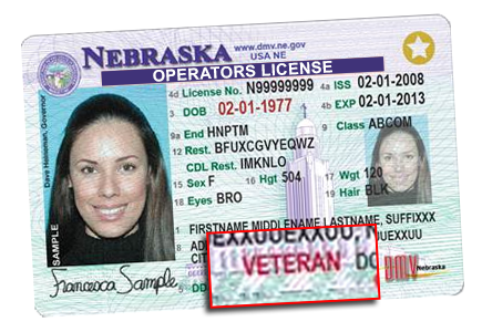 Veteran Designation on Nebraska Driver License/State ID
