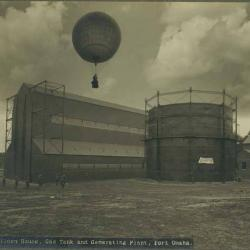balloon over Fort Omaha